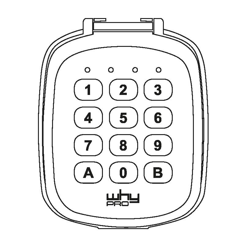 WHYPKP Universal Wireless Keypad